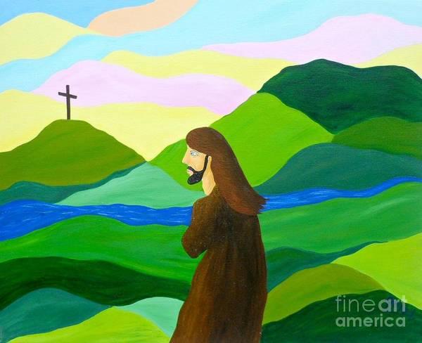 God Art Print featuring the painting Risen A New Dawn by JoNeL Art