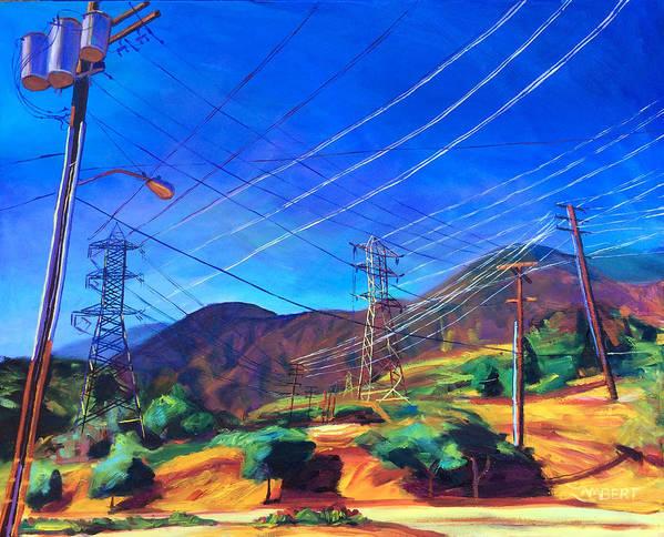 San Gabriel Art Print featuring the painting San Gabriel Power by Bonnie Lambert