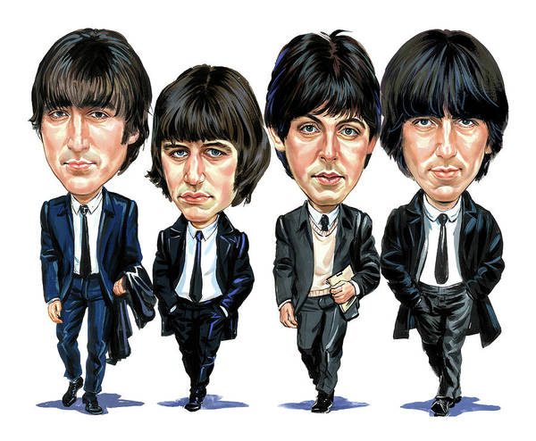 The Beatles Art Print featuring the painting The Beatles by Art
