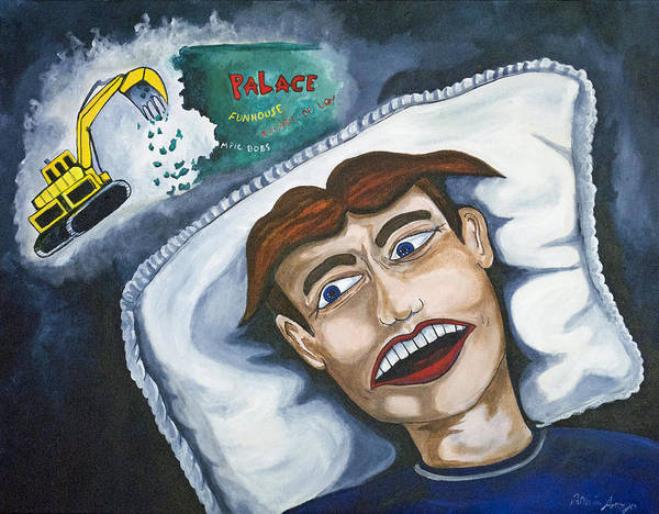 Asbury Park Art Print featuring the painting Tillies Nightmare by Patricia Arroyo