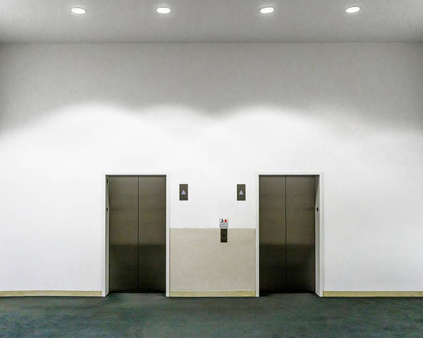 Empty Art Print featuring the photograph View Of Elevators by Jesse Coleman / EyeEm