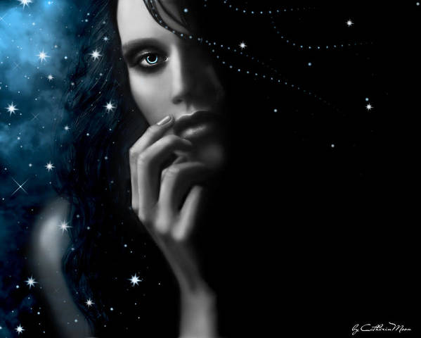 Stars Art Print featuring the digital art Mystery by Catherin Moon