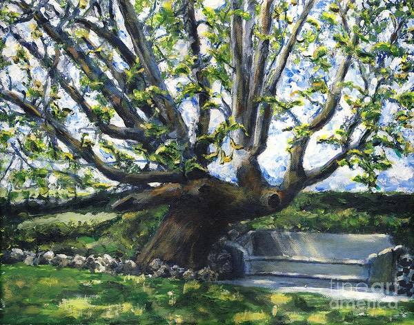 California Art Print featuring the painting Adamson Home Tree by Randy Sprout