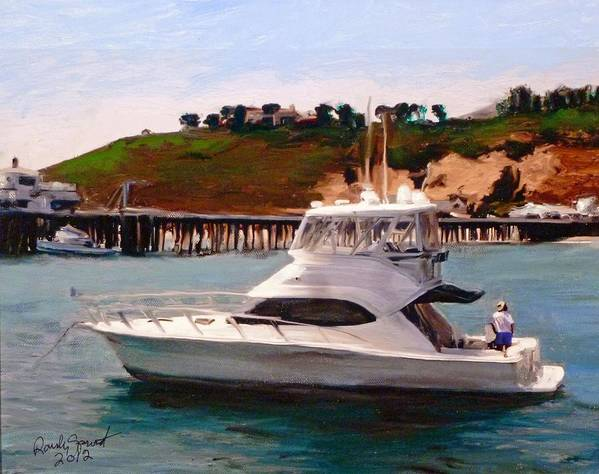 California Art Print featuring the painting Gail Anne at Malibu Pier by Randy Sprout