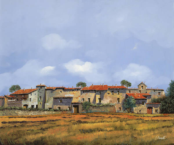 Italy Art Print featuring the painting Paesaggio Aperto by Guido Borelli