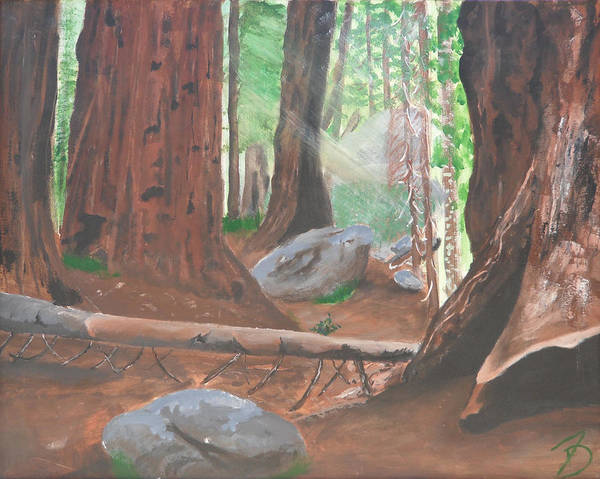 Sequoia Art Print featuring the painting Sequoia by Travis Day