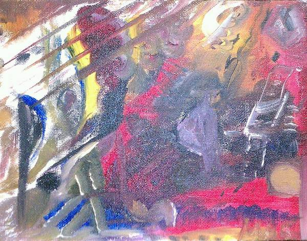 Abstract Art Print featuring the painting The Grand Musician by Mae Hermansen