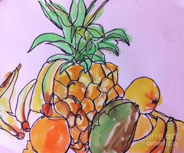 Art Art Print featuring the painting Tropical Snack by Norma Gafford