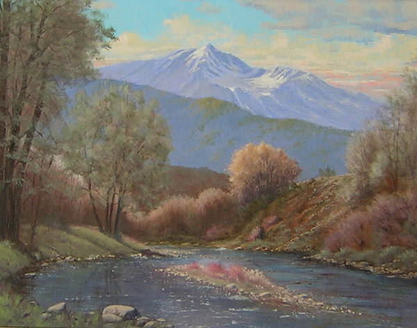 Landscape Art Print featuring the painting 060630-1814 The Land Awakes In Spring  by Kenneth Shanika