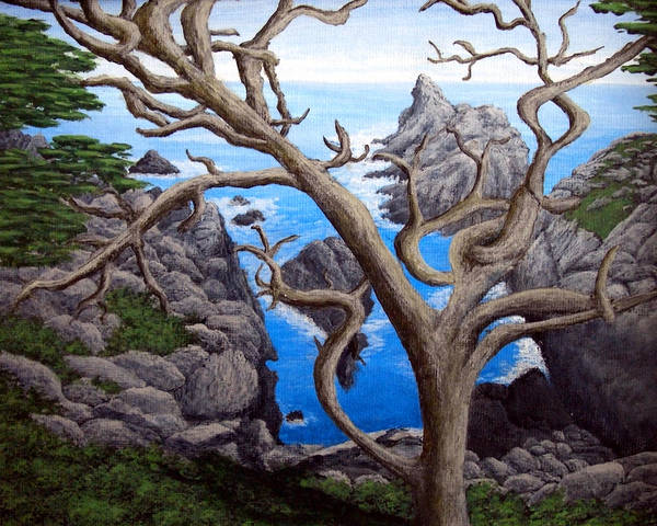 Landscape Paintings Art Print featuring the painting Monterey Cypress by Frederic Kohli