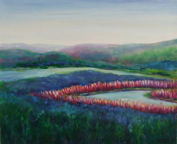 Landscape Art Print featuring the painting Tweet Stream by Shannon Grissom