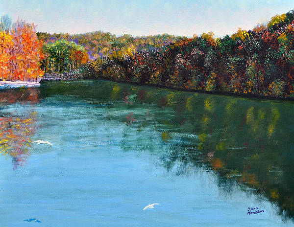 Lake Art Print featuring the painting Hdemo1 by Stan Hamilton