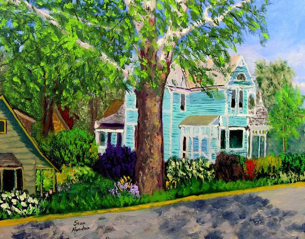 Plein Air Art Print featuring the painting Nashville House by Stan Hamilton