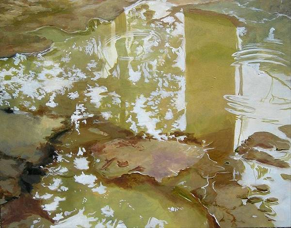 Rain Art Print featuring the painting After The Rain by Denise Ivey Telep