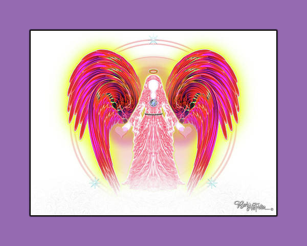 Inspiration Art Print featuring the digital art Angel #199 by Barbara Tristan