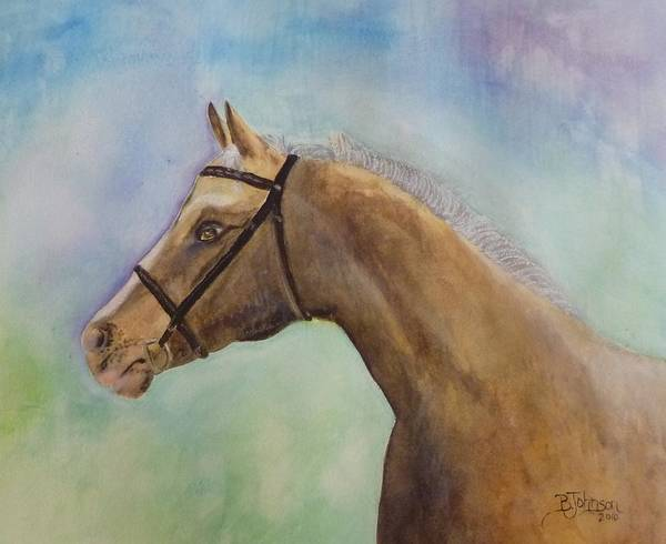 Horse Art Print featuring the painting Arizona by Beverly Johnson