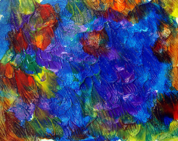 Abstract Art Print featuring the painting Art Leigh Odom 0001 by Leigh Odom