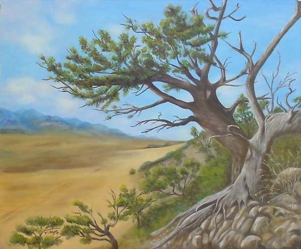 Landscape Art Print featuring the painting At a Tangent by Merle Blair