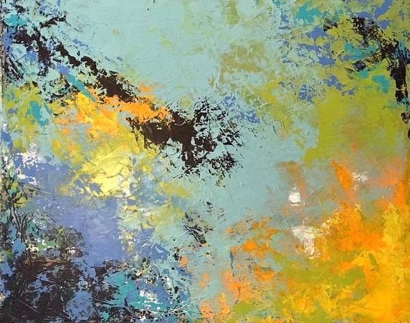 Abstract Art Print featuring the painting Awaken The Soul by Suzzanna Frank