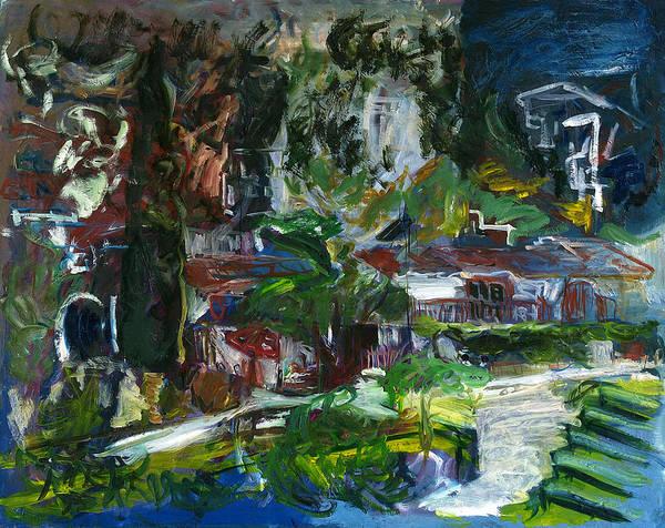 Landscape Art Print featuring the painting BellaPais by Joan De Bot