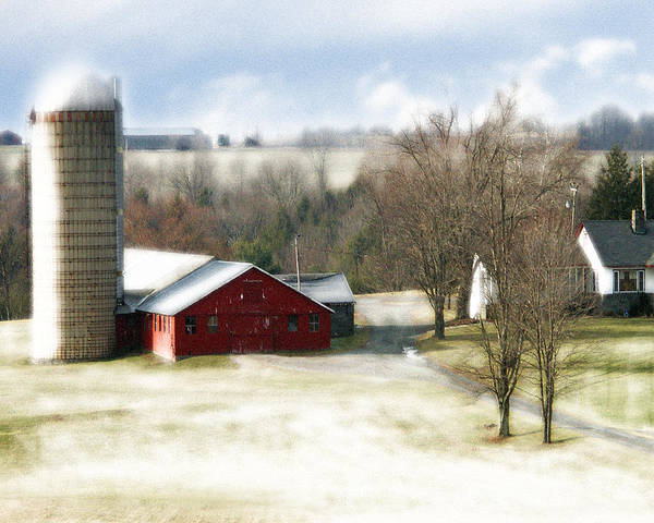 Art Print featuring the photograph Bethel Barn by Tom Romeo