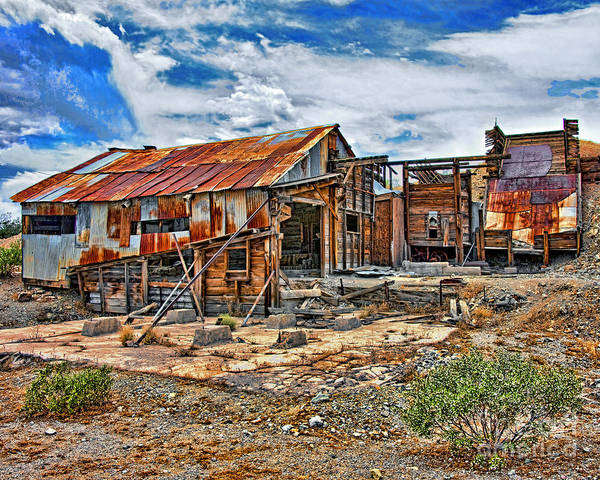 Abandoned Mine Art Print featuring the photograph Boom and Bust by Chuck Brittenham
