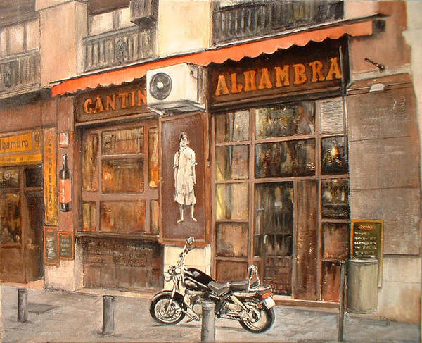 Madrid Art Print featuring the painting Cantina Alhambra by Tomas Castano