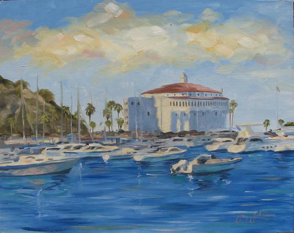 California Art Print featuring the painting Catallina Casino by Jay Johnson