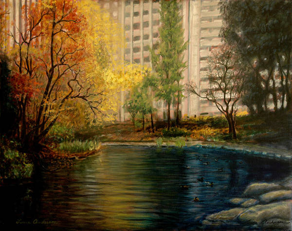 New York Art Print featuring the painting Central Park by Lance Anderson