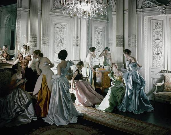 Antique Art Print featuring the photograph Charles James Gowns by Cecil Beaton