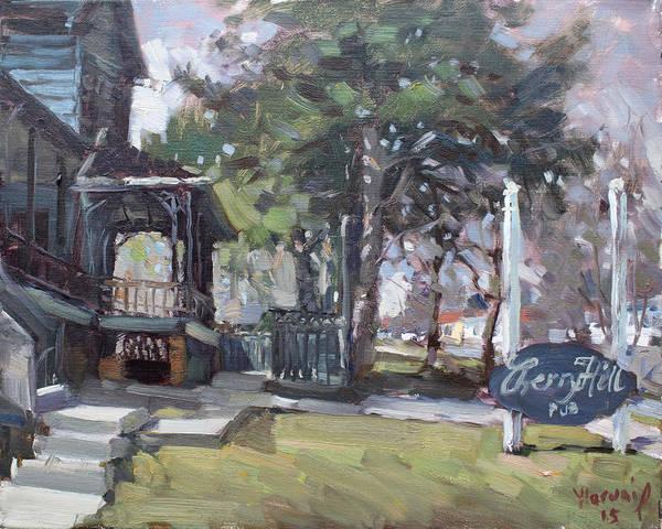 Cherry Hills Pub Art Print featuring the painting Cherry Hill Pub by Ylli Haruni