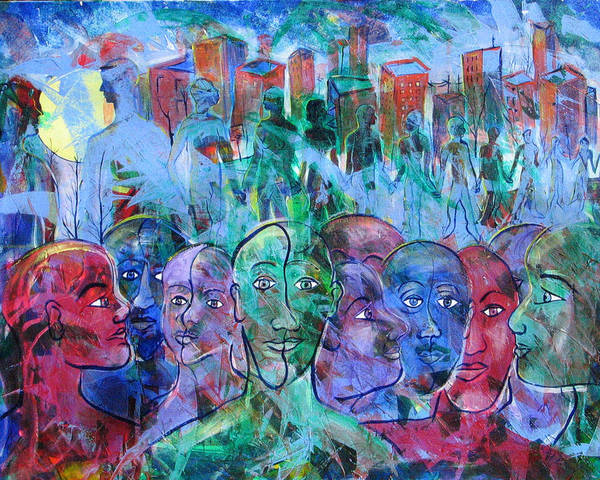 People Art Print featuring the painting Connect by Rollin Kocsis
