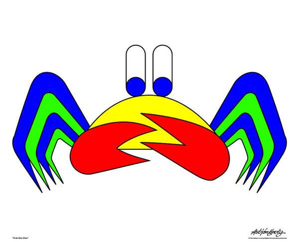 Art Print featuring the digital art Crab-Mac-Claw by Asbjorn Lonvig