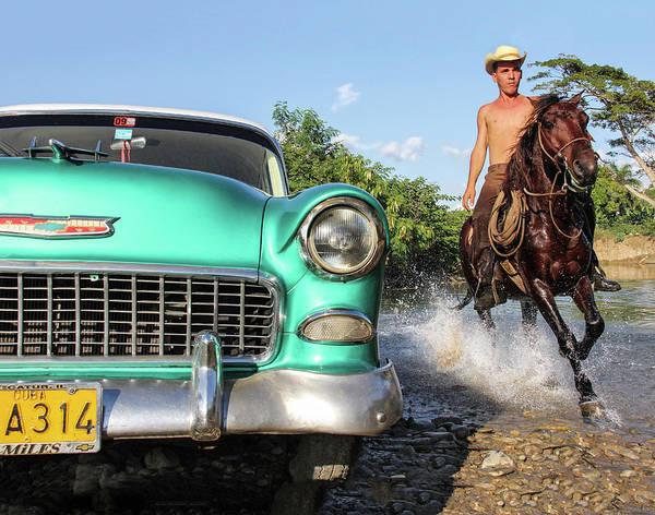 Cuba Art Print featuring the photograph Cuban Horsepower by Marla Craven