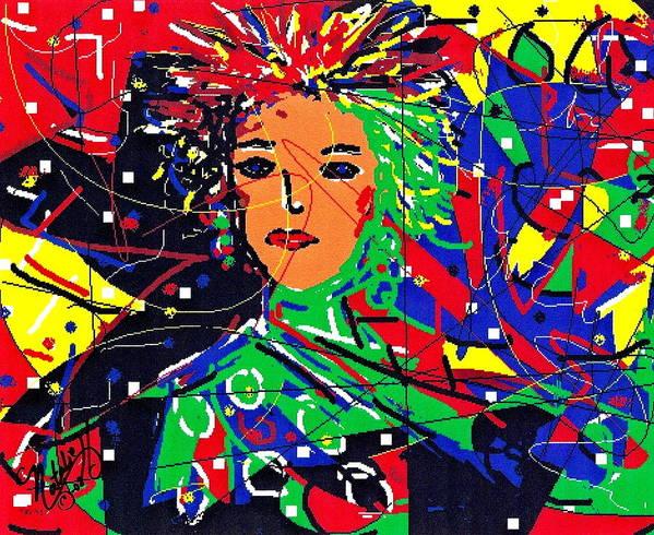 Woman Art Print featuring the digital art Cyberspace Goddess by Natalie Holland