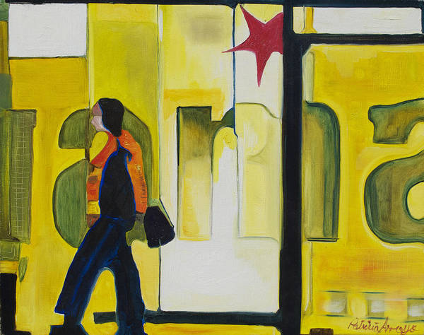 Abstract Art Print featuring the painting Dam Shopper by Patricia Arroyo