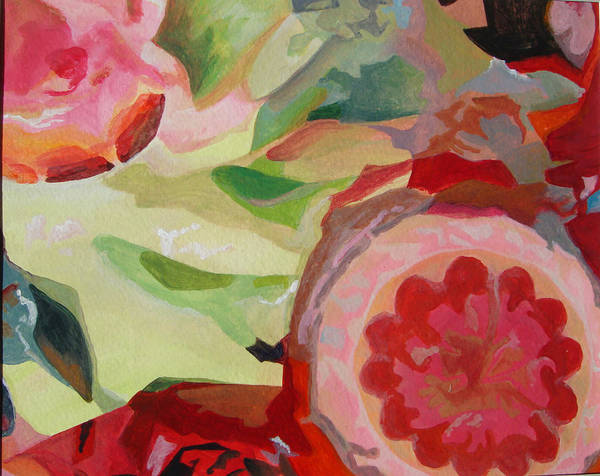 Abstract Art Print featuring the painting Decoupage by Muriel Dolemieux