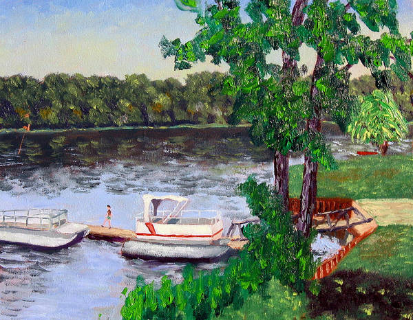 Original Oil On Canvas Art Print featuring the painting Ecsp 8-24 by Stan Hamilton