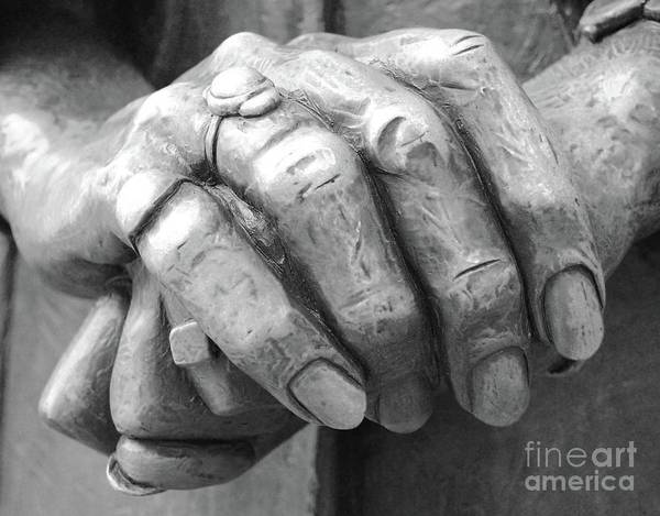 Elderly Art Print featuring the photograph Elderly Hands by Jost Houk