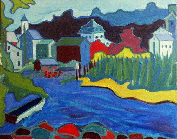 Essex River Art Print featuring the painting Essex River by Debra Bretton Robinson