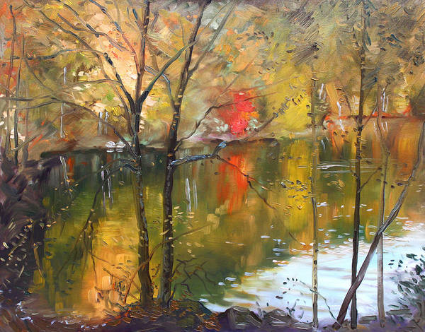 Landscape Art Print featuring the painting Fall 2009 by Ylli Haruni