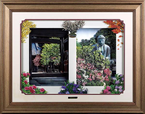 Japanese Art Print featuring the mixed media Flower Calendar by Momoe Kawazoe