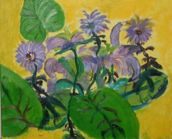 Art Print featuring the painting Flower garden by Jason Rosenstock
