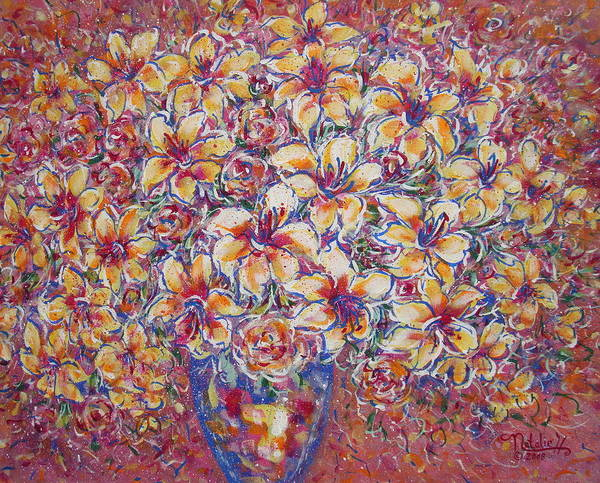 Lily Art Print featuring the painting Golden Splendor by Natalie Holland