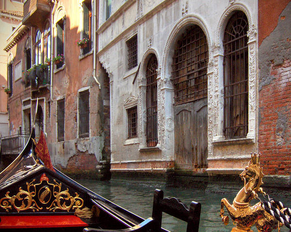 Gondola Art Print featuring the photograph Gondola by Julie Geiss