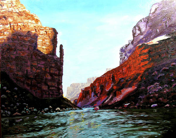 Original Oil On Canvas Art Print featuring the painting Grand Canyon IV by Stan Hamilton