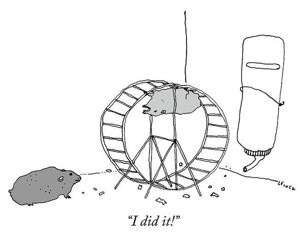 """""""i Did It!"""" Art Print featuring the drawing I Did It by Liana Finck"""