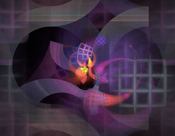 Graceful Art Print featuring the digital art In The Year Of The Tiger - Fractal Art by Nirvana Blues