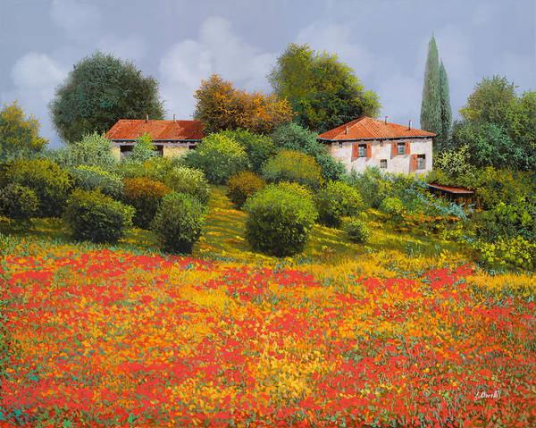 Summer Art Print featuring the painting L'estate fiorita by Guido Borelli