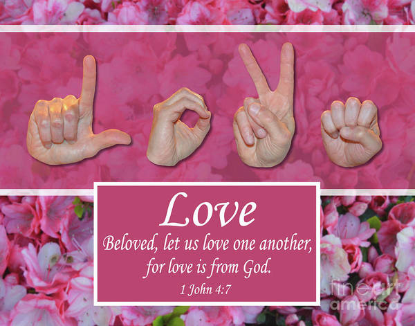 Christian Art Print featuring the photograph Love One Another by Master's Hand Collection